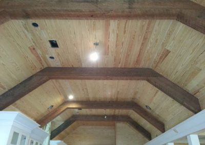 Reclaimed Wood Ceiling Vaulted | Specialty Flooring | Reclaimed Building Materials | Hilton Head, Savannah, Bluffton, Beaufort SC
